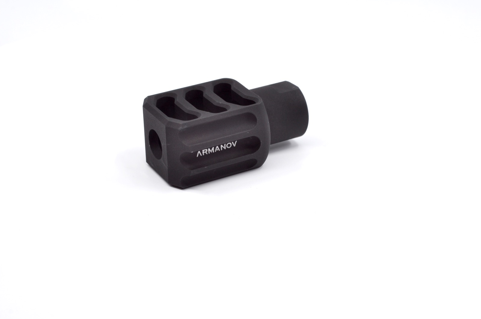 "Armanov Muzzle Brake 9mm PCC 1/2""x36 Black"