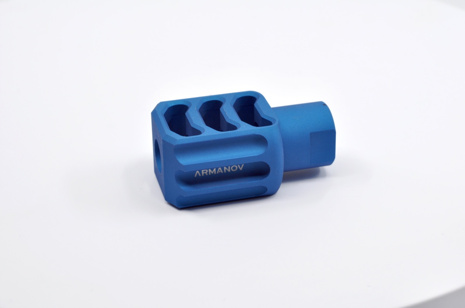 "Armanov Muzzle Brake 9mm PCC 1/2""x36 Blue"