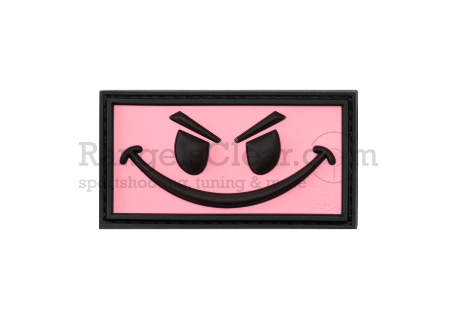 JTG Evil Smile Rubber Patch Pink