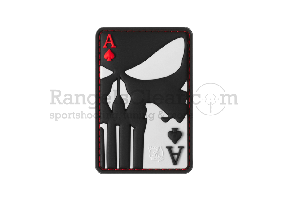 JTG Punisher Ace of Spades Rubber Patch Color