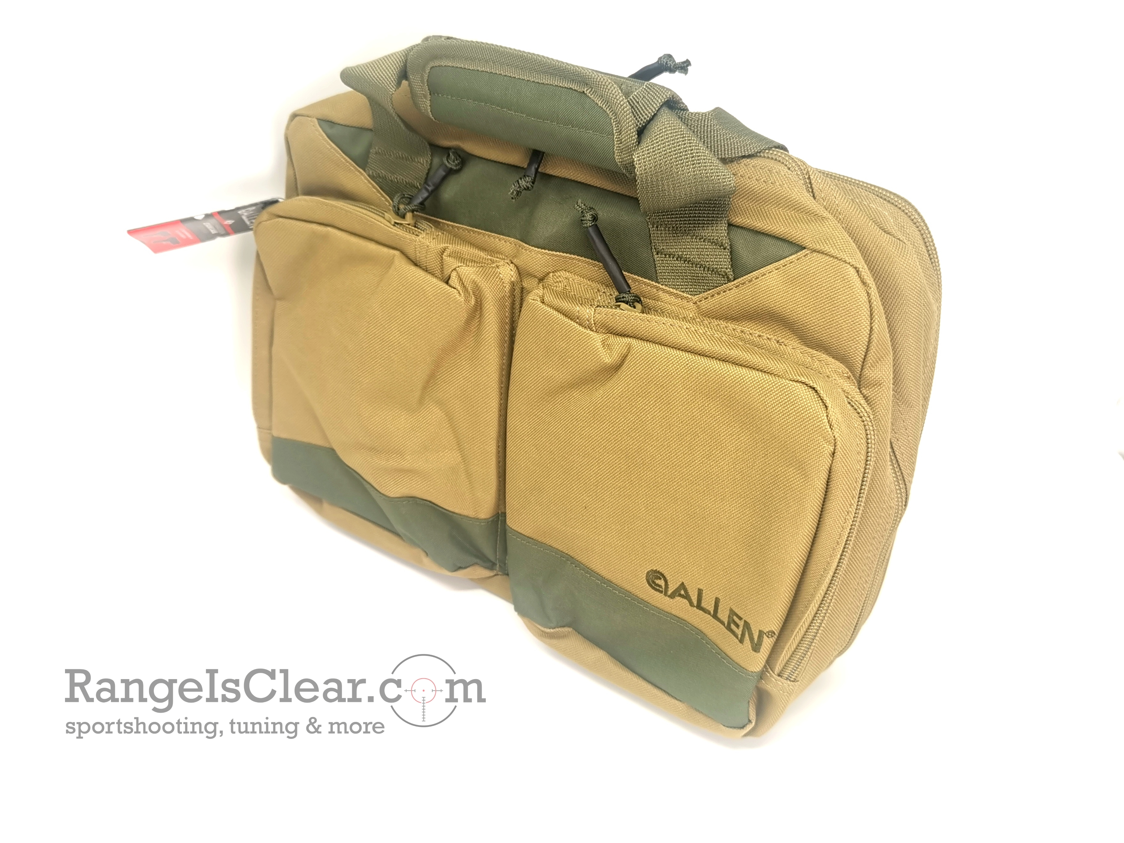 Allen Double Handgun Pistol Bag sand/green
