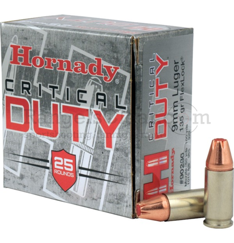 Hornady Critical Duty 9x19 135 grs Flex Lock