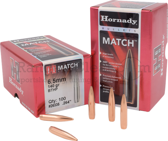 Hornady Bullets BTHP Match 6,5mm .264 140 grs