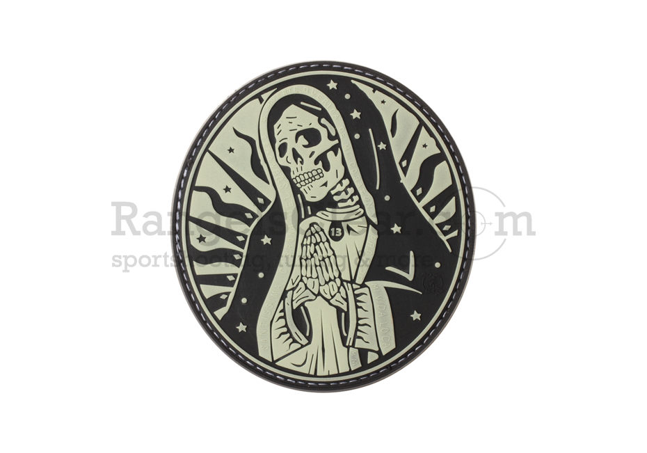 JTG Santa Muerte Rubber Patch Glow in the Dark