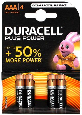 Duracell Plus AAA - 4 Stk.