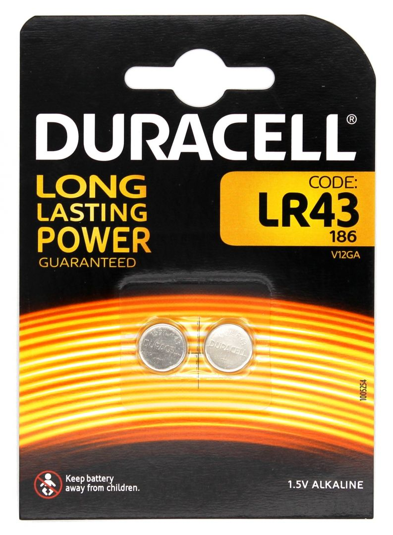 Duracell Long Lasting Power LR43 - 1,5V - 2 Stk.