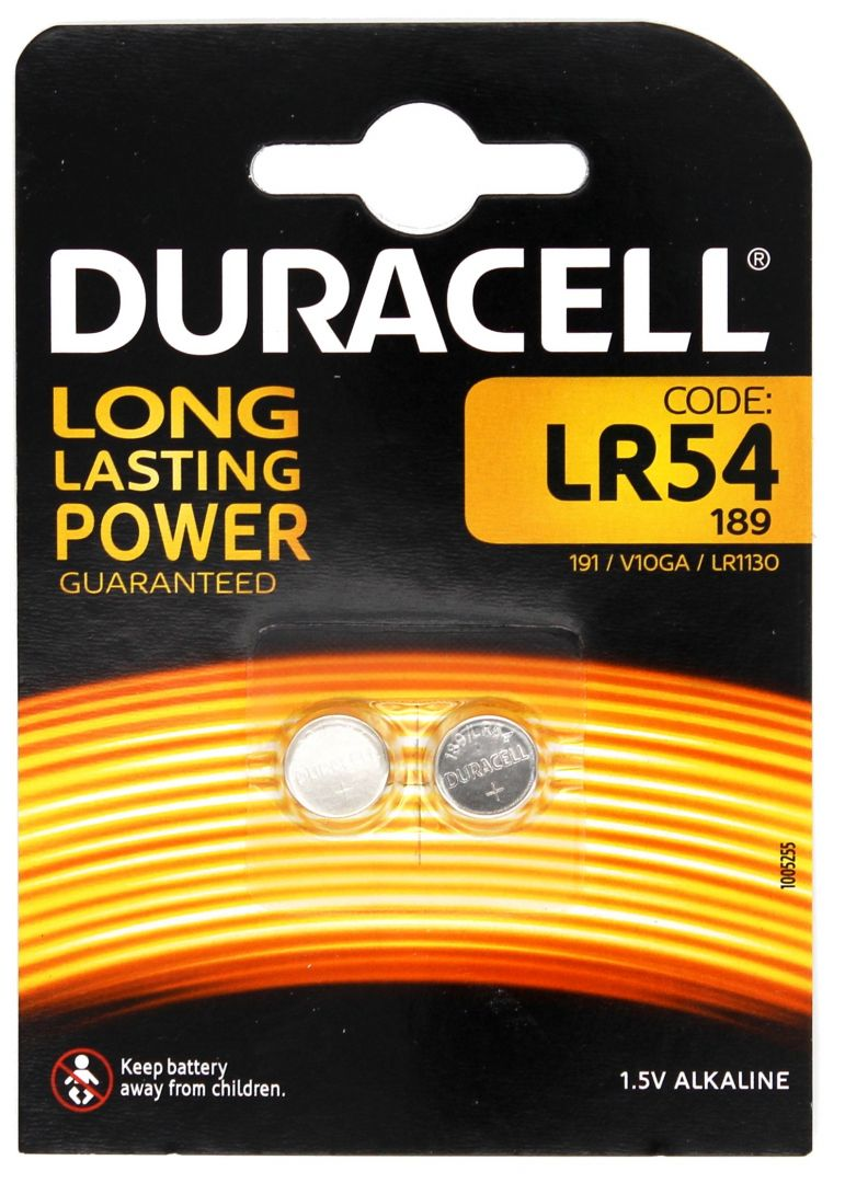 Duracell Long Lasting Power LR54 - 1,5V - 2 Stk.