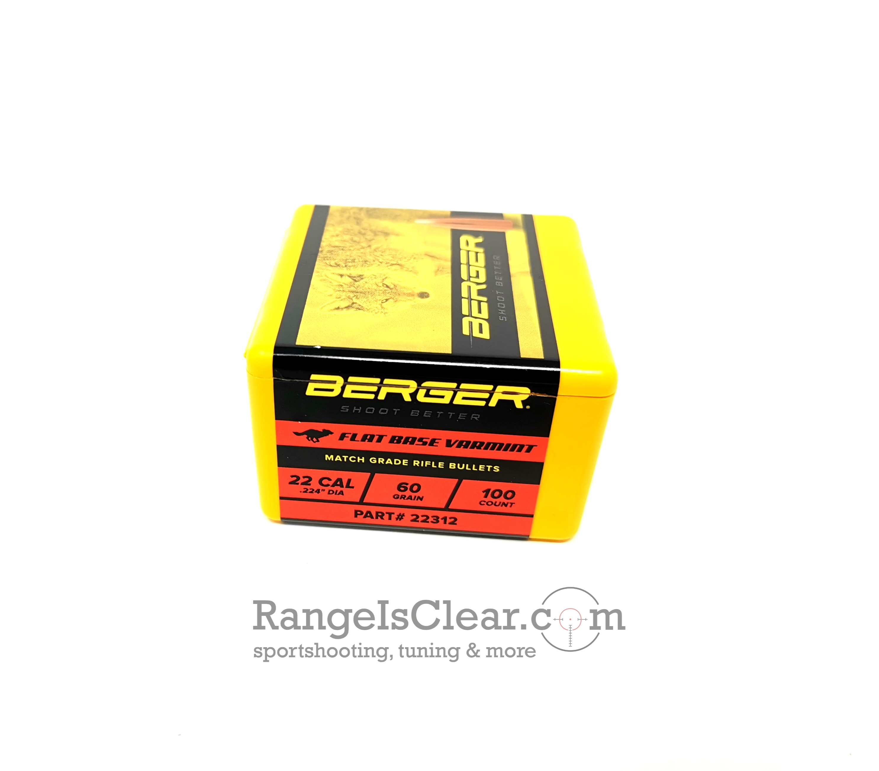 Berger Bullets .224 - 60 grs - Flat Base Varmint