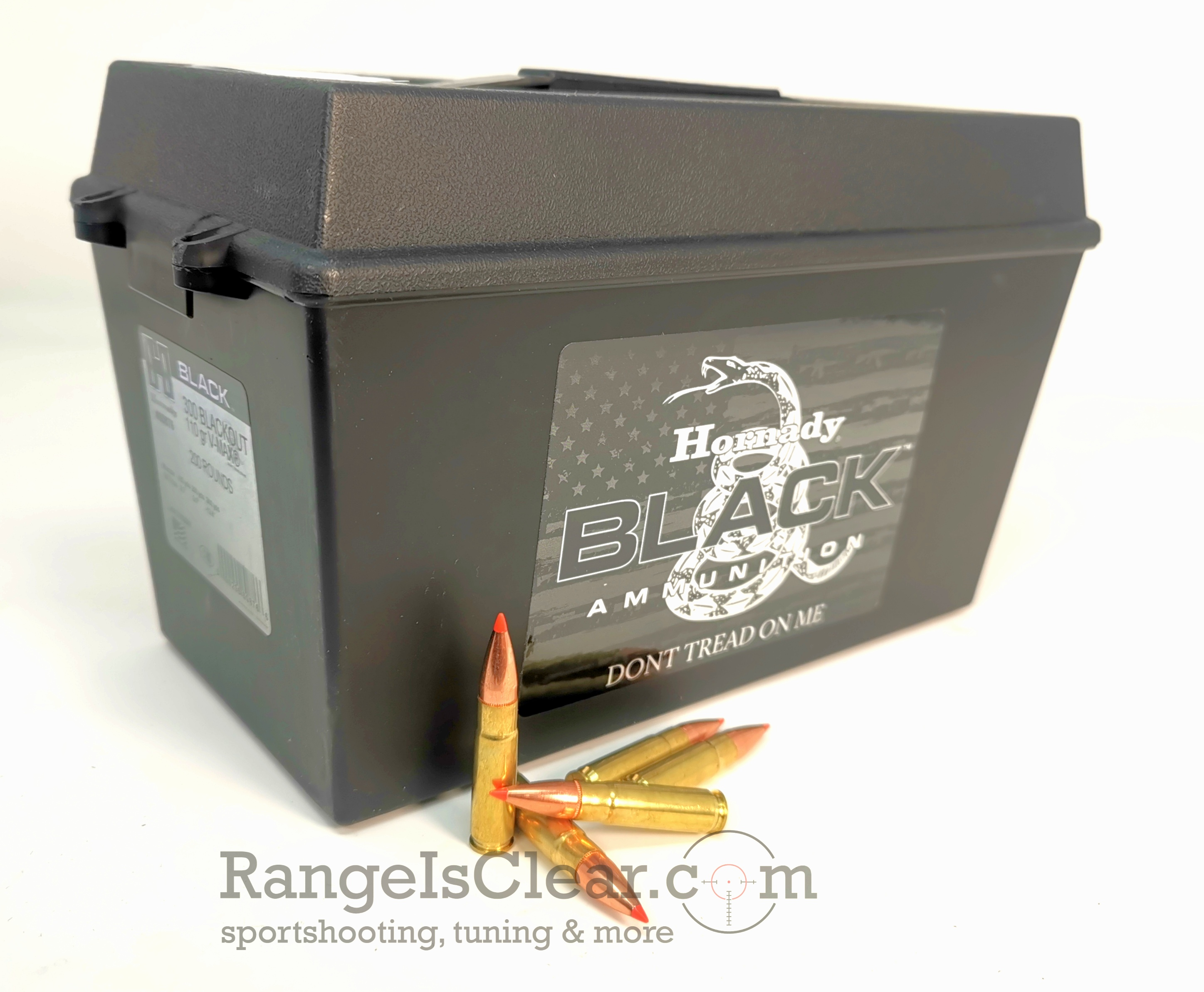 Hornady Ammo Can .300 Blackout 110grs V-Max BLACK