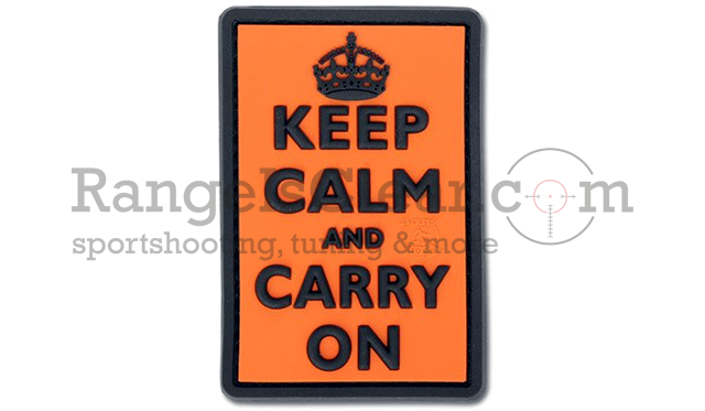 JTG Keep Calm and Carry on Patch - Orange
