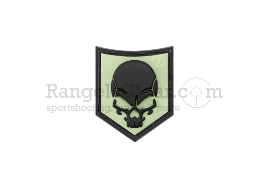 JTG SOF Skull Rubber Patch - Glow in the Dark
