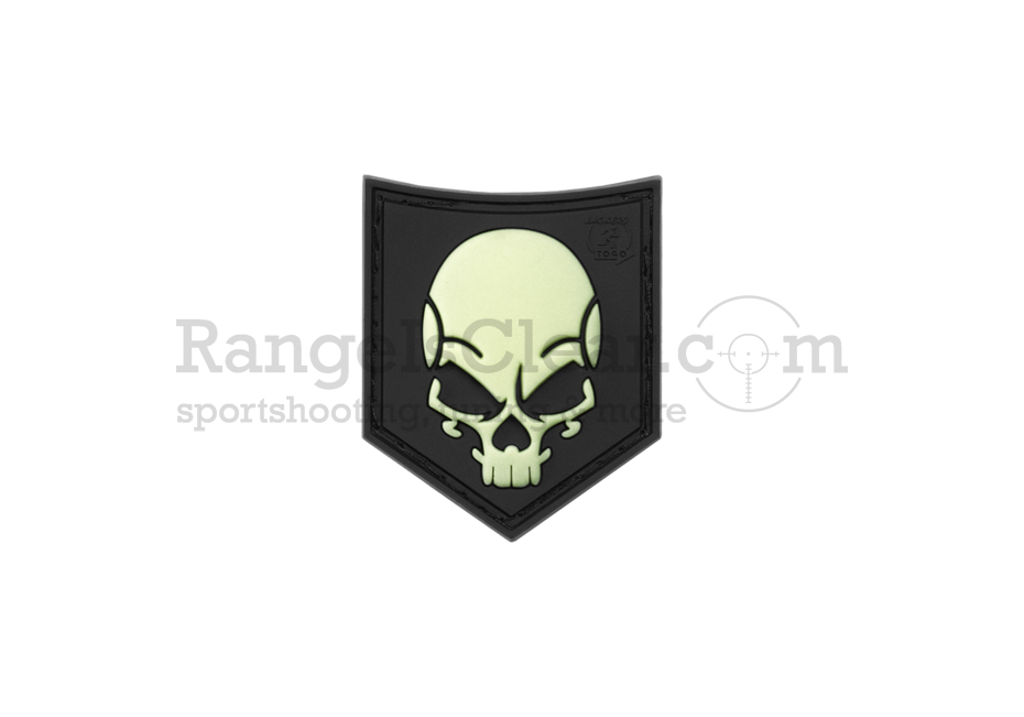 JTG SOF Skull Rubber Patch black Glow in the Dark
