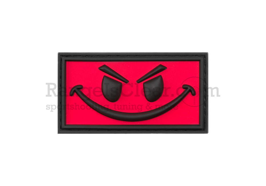 JTG Evil Smile Rubber Patch Red