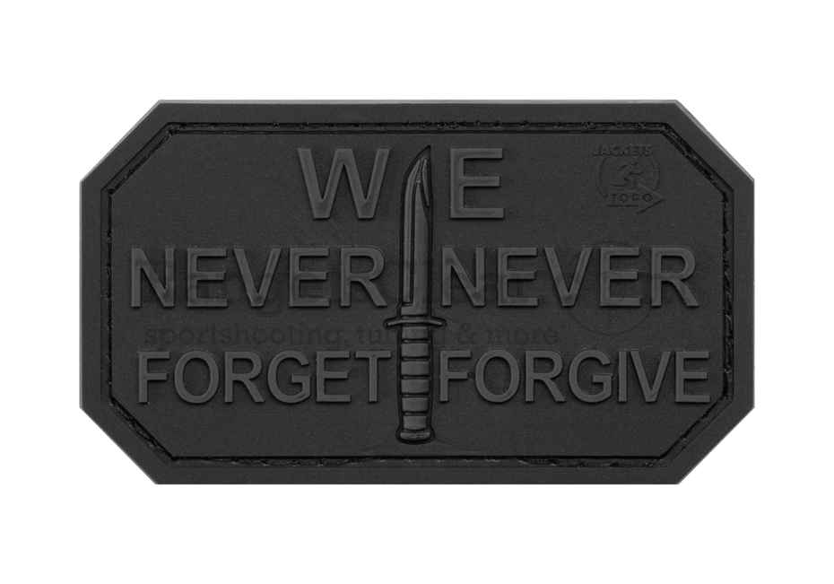 JTG Never Forget Rubber Patch - BlackOps