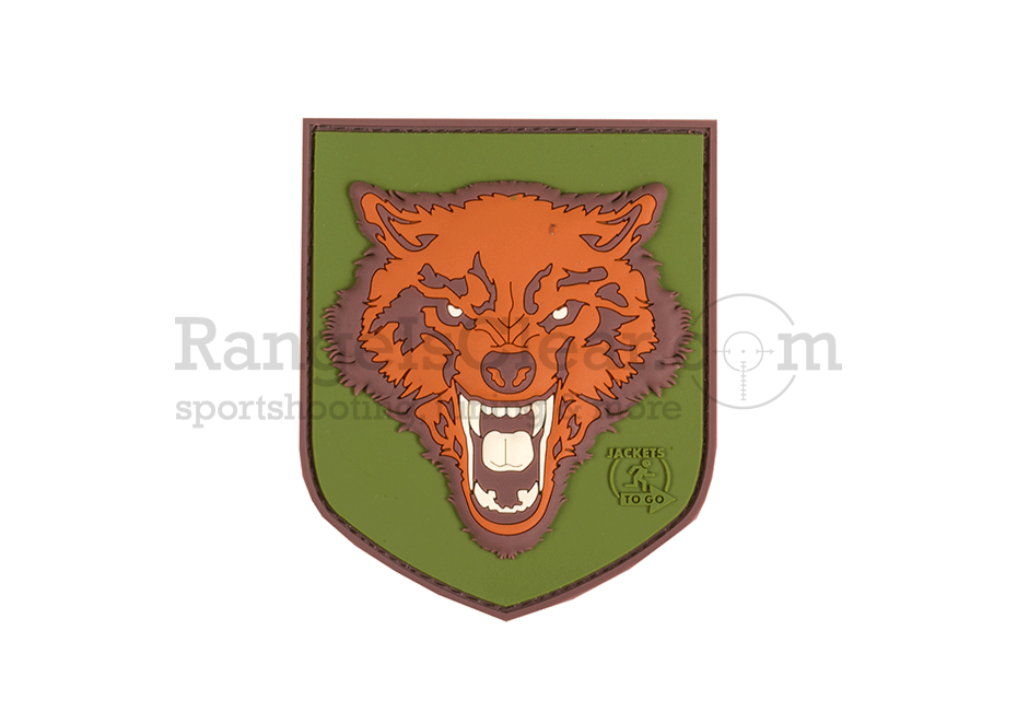 JTG Wolf Shield Rubber Patch - FullColor