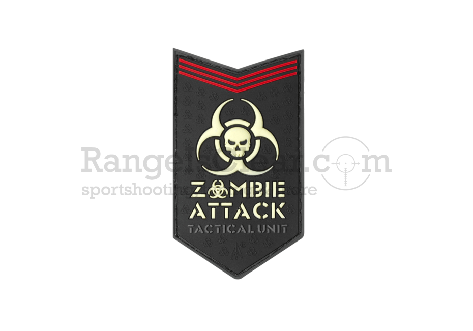 JTG Zombie Attack Rubber Patch - Glow in the Dark