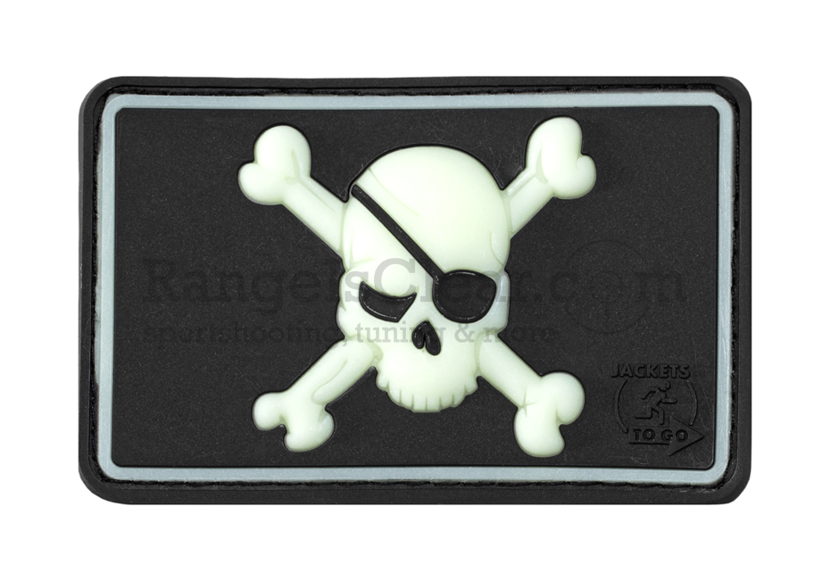 JTG Pirate Skull Patch black - Glow in the dark