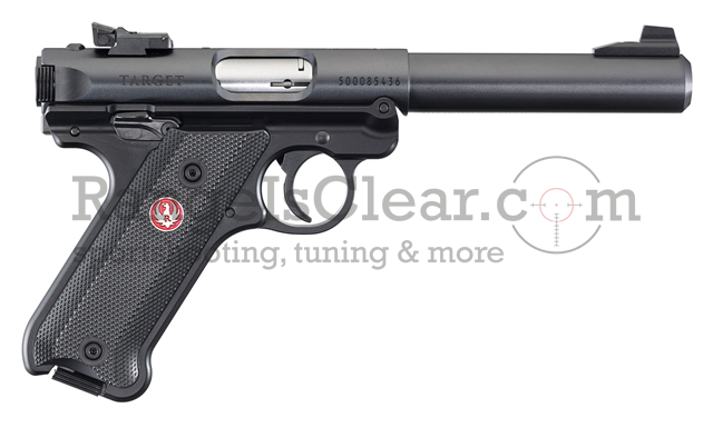 Ruger Mark IV Target Pistol blued Synthetic Grip