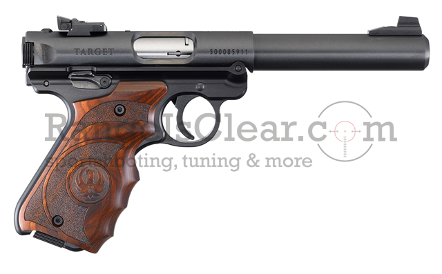 Ruger Mark IV Target Pistol blued Laminate Grip