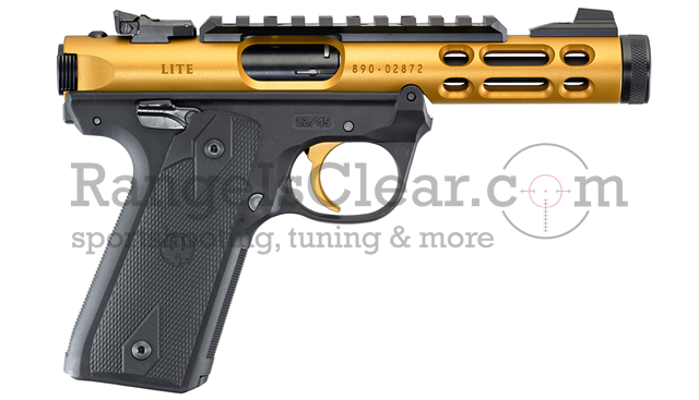 Ruger Mark IV 22/45 Lite - gold/black
