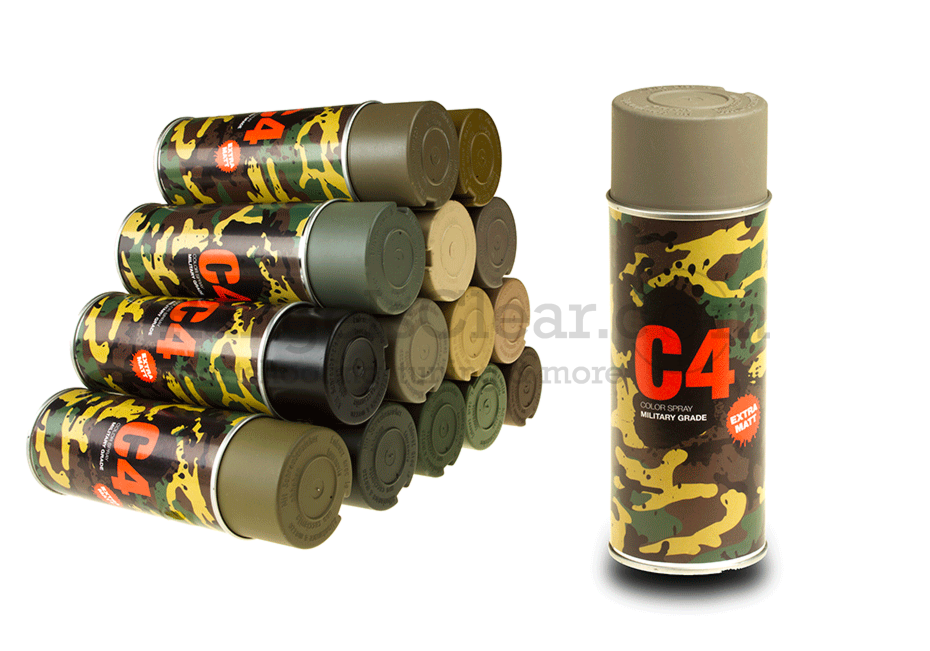 C4 Mil Grade Color Spray Flat Dark Earth