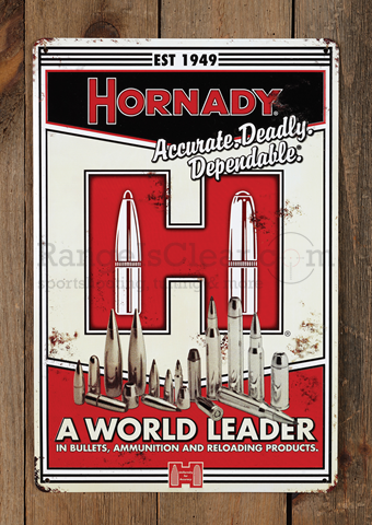 Hornady Tin Sign Vintage World Leader
