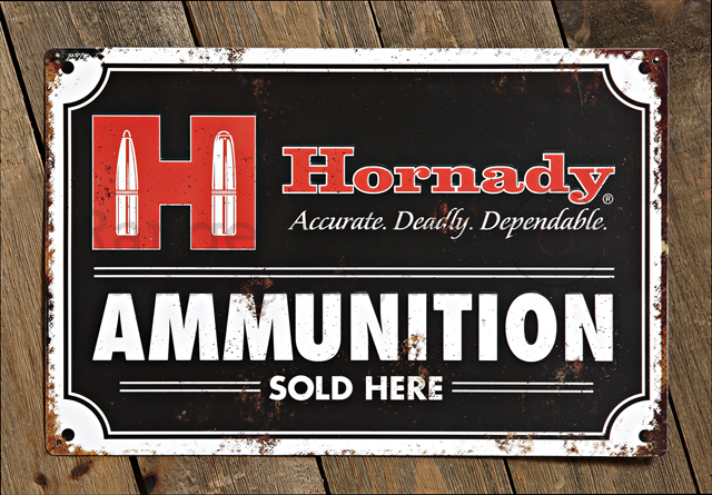 Hornady Tin Sign Vintage Ammunition