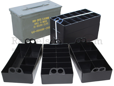 MTM 50 Caliber Ammo Can Organizer 3 pieces