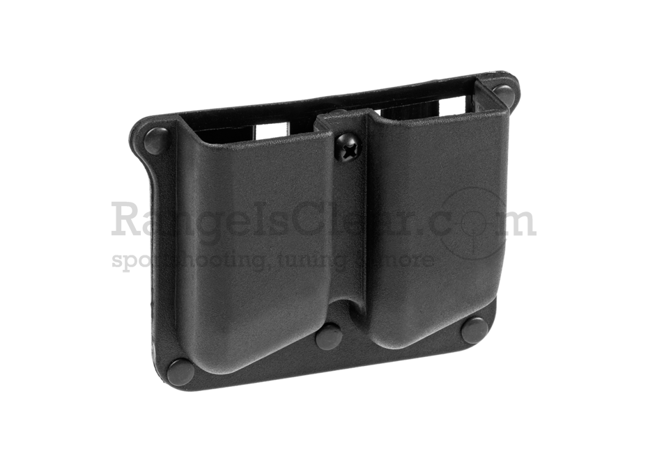 Frontline Polymer Double Pistol Mag Pouch Black