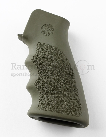 Hogue AR-15 Pistol Grip Rubber OD Green