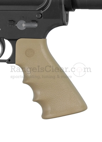 Hogue AR-15 Pistol Grip Rubber FDE