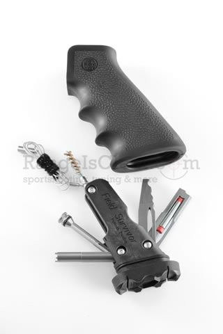Hogue AR-15 Pistol Grip Rubber Black Survival Kit