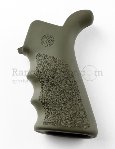 Hogue AR-15 Pistol Grip Beavertail Rubber OD Green