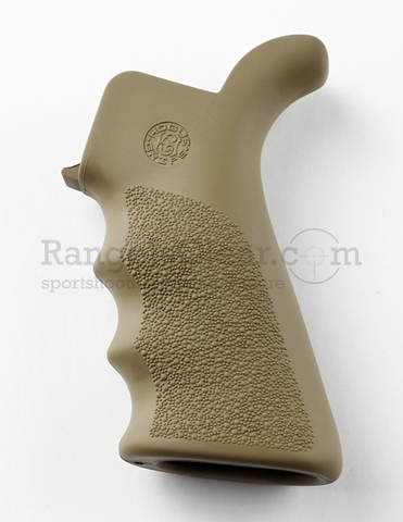 Hogue AR-15 Pistol Grip Beavertail Rubber FDE