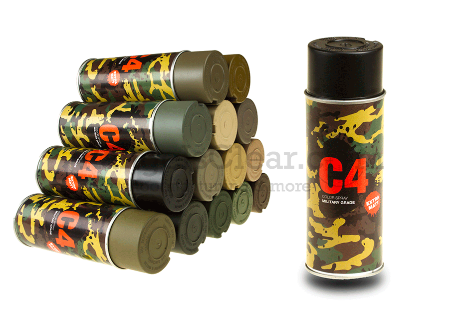C4 Mil Grade Color Spray RAL 9021