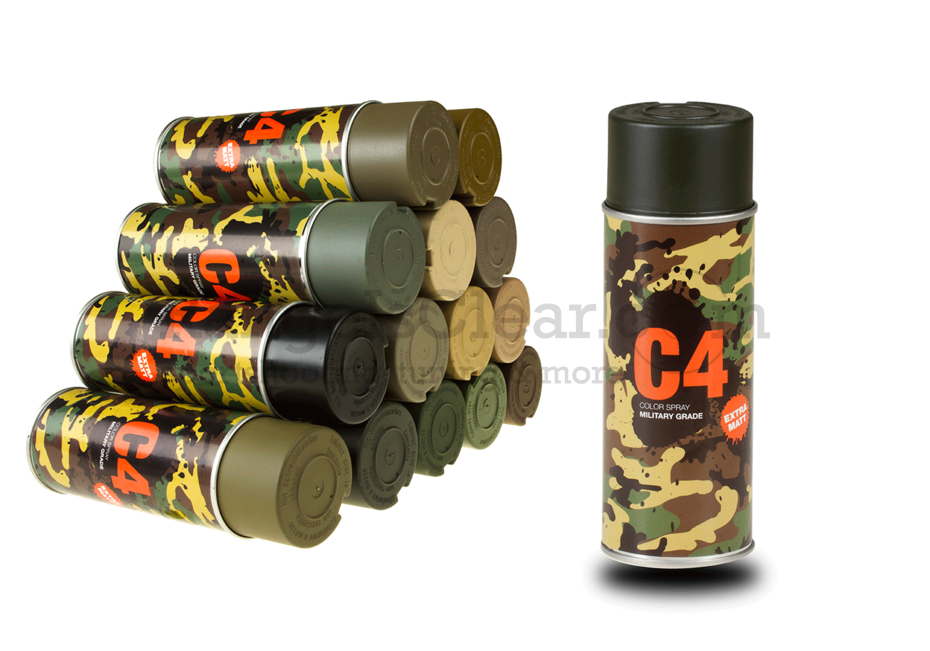 C4 Mil Grade Color Spray RAL 6006