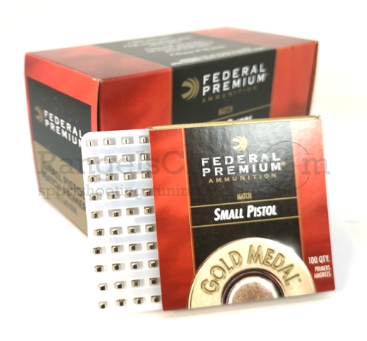 Federal 100 Gold Medal Small Pistol Primer