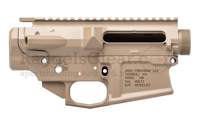 Aero Precision M5 (.308) Receiver Set Stripped FDE